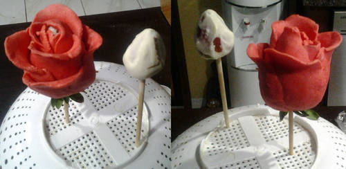 BEHOLD! My Crappy Chocolate Rose! by IWishForAFish