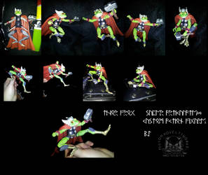 Thor Frog Super Articulated Custom Action Figure by ayelid