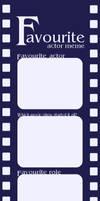 Fav Actor Meme - Blank by Foxtrot1991