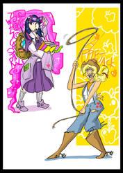 Twilight Sparkle n Applejack by toriiichan