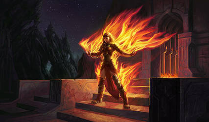 Chandra, Roaring Flame by ericDeschamps