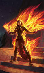 Chandra, Roaring Flame - Detail by ericDeschamps