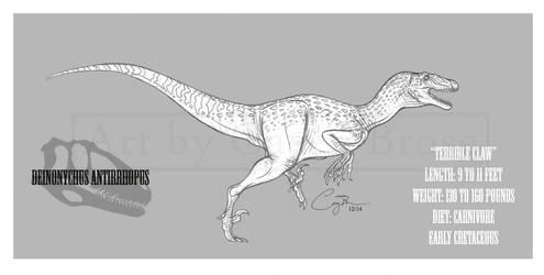 Deinonychus antirrhopus by BlueCea