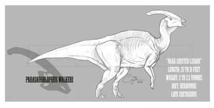 Parasaurolophus walkeri by BlueCea
