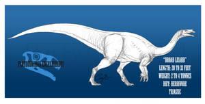 Plateosaurus engelhardti by BlueCea