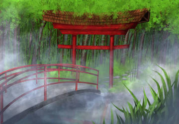 Japanese Garden by Cryonisia