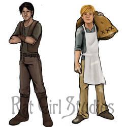 Gale and Peeta by Ratgirlstudios