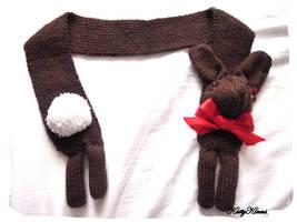 Chocolate Bunny Rabbit Scarf by Cateaclysmic