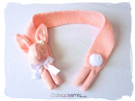 Pink Pearl Bunny Scarf by Cateaclysmic