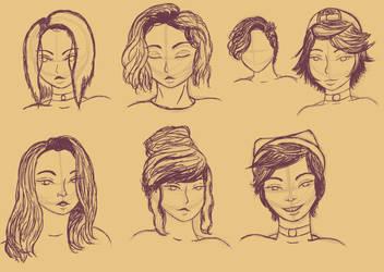 Sketch de peinados by DeniMusic