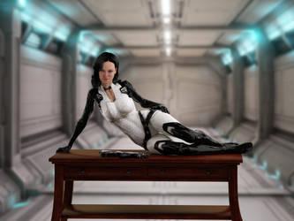Miranda Lawson - Desk by mechw007