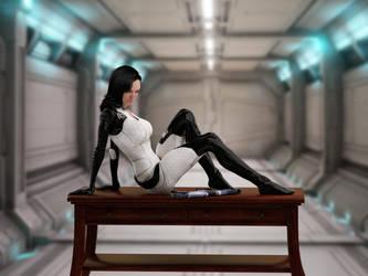Miranda Lawson - Desk2 by mechw007