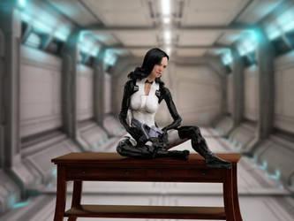 Miranda Lawson - Desk3 by mechw007
