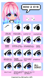 Shiny rainbow eye tutorial by CMYKidd