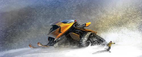 Snowmobile by cristianci