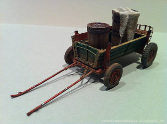 Wooden wagon model by cristianci