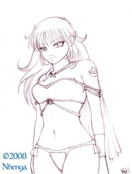 Warrior elf by Nhenya