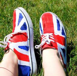 Uk flag shoes by GigitjeR
