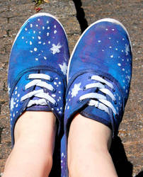 Hand painted Galaxy shoes by GigitjeR