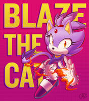 Blaze the Cat by JovialNightz