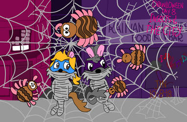 Drawlloween Insects and the City by AquirasToons