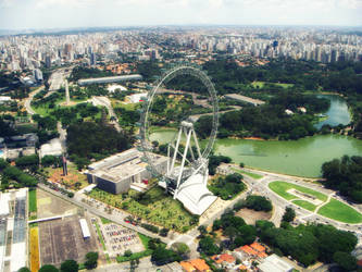 Ferris Wheel Sao Paulo by jakpowered