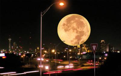Moonlight over San Antonio by Ayasumi