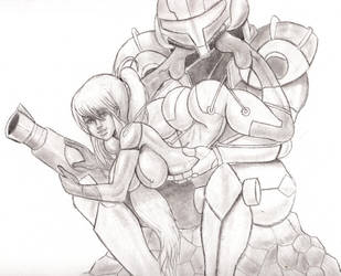 (Metroid) Samus Straight Out Of Varia by AJCancer