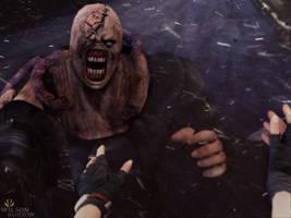 Resident Evil 3 Nemesis art. by: wilson burton by wilsonBurton20