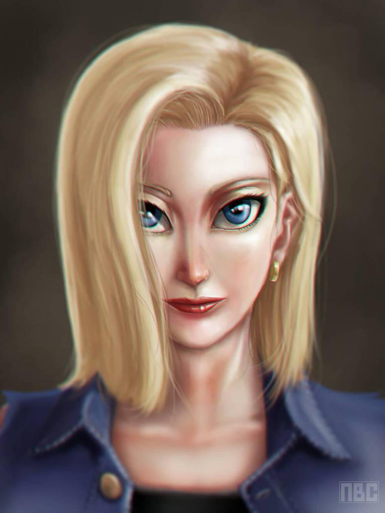 Android 18 portrait by nichcruz