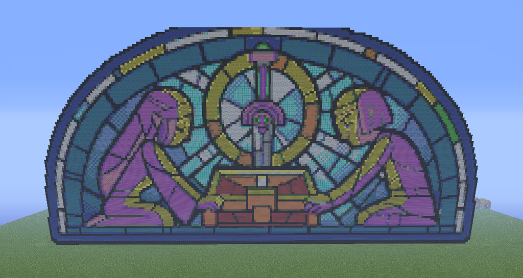 Legend Of Zelda Stain Glass Minecraft By Slygirl1999 On Deviantart