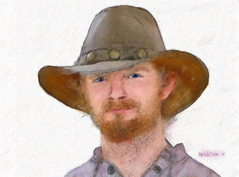 Watercolor Cowboy by goldcoin