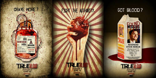 TRUE BLOOD SEASON 5 POSTER SERIES by riogirl9909