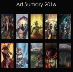 Art Summary 2016 by LOLzitsaduck