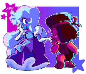 Ruby and Sapphire by TheNinjaArtist16