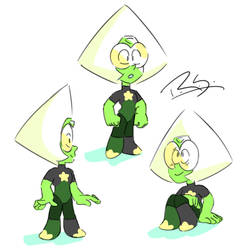 Future Peridot sketches by TheNinjaArtist16