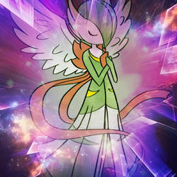 Fake Mega Gardevoir with awesome background added! by ArceusofDoom