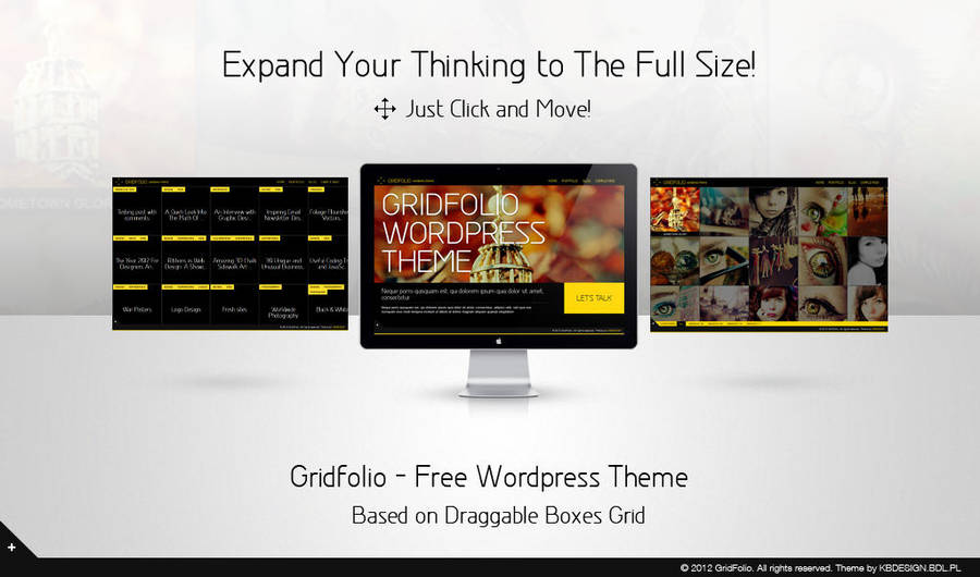 Gridfolio - Free Wordpress Theme by Krzyho