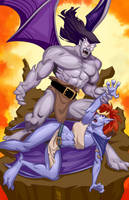 Goliath and Demona: Raising the Beast. by NemoNova