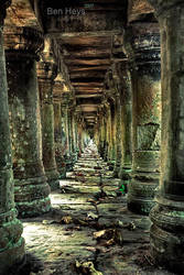 Temple corridor by sifu
