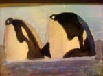 Orcas by Bernadette28