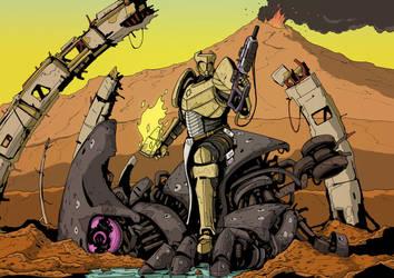 Destiny Titan (Commission) by DarkMechanic
