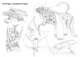 Dragon concept, Pencil Work by DarkMechanic