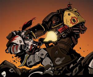 Iron Hand Centurion by DarkMechanic