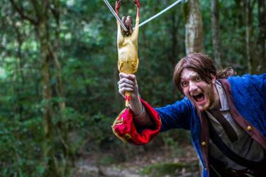 Monkey Island: USE Chicken on Zip Line by EmperorMossy