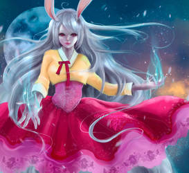 ~ Rabbits on the moon ~ by effy7