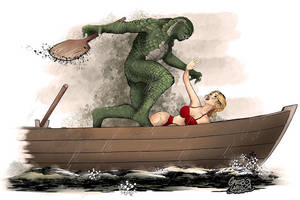 Attack of the Creature from the Black Lagoon by gregbo