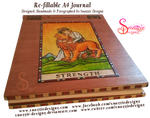 Handmade Refillable Tarot Strength Journal - End by snazzie-designz