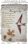 Calligraphed Illustrated Poem on Handmade Paper by snazzie-designz