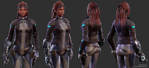 Mass effect Lady by Goraaz